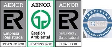 Logos certificaciones AENOR e IQNet